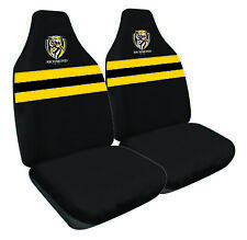 RICHMOND TIGERS Official AFL Seat Covers Airbag Compatible *NEW 2018 Design*