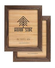 Rustic Wooden Picture Frames - Natural Solid Eco Wood - Wall & Tabletop - Brown
