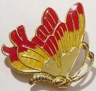 boucle ceinture couleur or rétro papillon peinture émail bijou vintage 4980