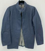 Amish Mennonite Hand Sewn Denim Jacket Men's Open Front