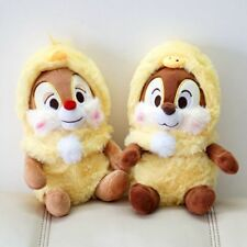 New Disney  Easter Chip and Dale with check outset Plush Toy 2PCS Gift