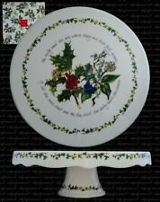 Portmeirion Holly and Ivy Scalloped Footed Cake Stand 28cm