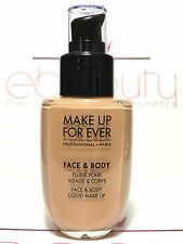 MAKE UP FOR EVER FACE AND BODY LIQUID FOUNDATION SHADE 32 ALABASTER BEIGE 1.69oz