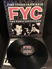 FINE YOUNG CANNIBALS The Raw & The Cooked  UK Vinyl LP GREAT CONDITION 1988