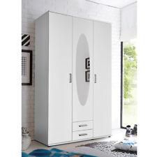 Kleiderschrank Paule 3-türig weiß mit Spiegel und 2 Schubkästen 120cm breit