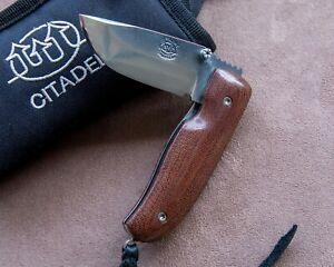 "Citadel Chantha ~7"" OA Micarta Scales Handmade Folding Knife Frame Lock Superb"