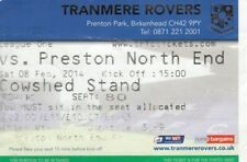 Ticket - Tranmere Rovers v Preston North End 08.02.14
