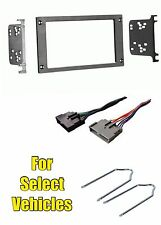 Double Din Stereo Radio Install Dash Trim Kit Combo+Tool for select Ford Mustang