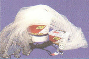 """Ahi CN607 7 Ft Pro Guide Clear 1/4""""Double Knotted Ube Chip Mono Cast Net 16108"""