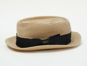 Straw style hat - 7 1/2 (60cm) - New with Tags