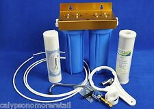 Twin Dual Undersink Water Filter Good for UV Complete System