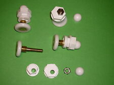 White Shower Door Rollers, Wheels, Runners 4 x SR32-25