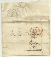 # 1841  FANCY RED FRAMED PAID AT DUNGANNON ON LETTER TO MOY - IRELAND - IRISH