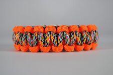 550 Paracord Survival Bracelet Cobra Orange/Rainbow Camping Tactical Military