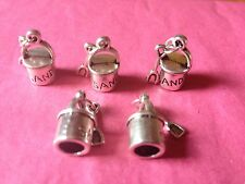 Tibetan Silver 3D Bucket and Spade Charms- 5 per pack - Holiday/Seaside themes