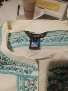 Roberto cavalli white top with style. Small