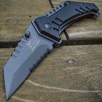 "8"" M-TECH TACTICAL TANTO Combat Spring Assisted Open Folding Pocket Knife"