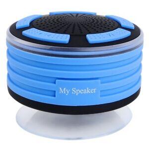 Bluetooth Speakers Wireless Portable IPX7 Waterproof LED Lights Speaker Blue