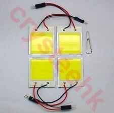 4 X Universal Dome Panel light COB 48 LED SMD White V12 T10 Festoon Bright Lamp