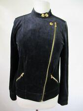 F3457 Lauren Ralph Lauren Women's Velour Full Zip Jacket Size M