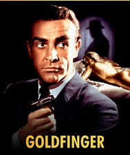 James Bond Goldfinger UNSIGNED poster photo -H7157- Sean Connery & Shirley Eaton