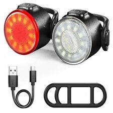 LED Bike Light Waterproof Mountain Road Helmet Cycle Headlight and Taillight Set