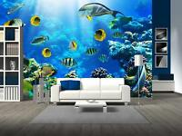Wall26 - Photo of a Tropical Fish on a Coral Reef - CVS - 66x96 inches