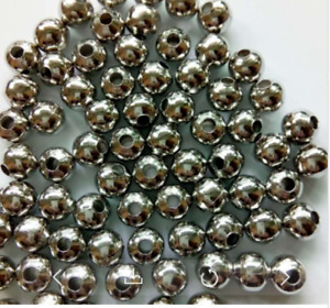 10000pcs 2mm-10mm Metal Round Small Loose Charm Spacer Beads Jewelry Findings