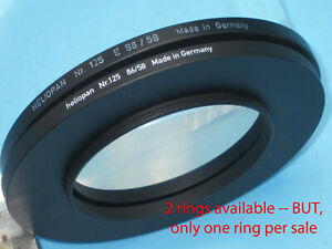 HELIOPAN Step Up Ring 58mm - 86mm Filter Ring Adapter #125, 58 86  H6