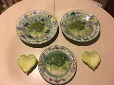 LOT OF 3 KANI OF HAWAII MADE IN KONA TURTLE BOWLS AND PLATE SET WITH BONUS