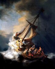 "Rembrandt ""CHRIST IN THE STORM ON THE SEA OF GALILEE"" (11"" by 14"" PRINT)"