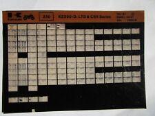 Kawasaki Kz250 D Ltd Csr Series Parts Microfiche 1980-81 99961-0031