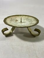 "Vintage Metal Candle Holder Made in Western Germany 4-3/4"" Dia"