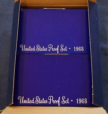 Lot of 10 1968-S US Mint Proof Sets In Original Mint Storage Box - Free Ship US