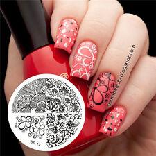 Nail Art Stamping Schablonen Stempel Nagel Template Image Plate BORN PRETTY 17