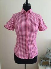 T M Lewin Ladies Blouse Top Shirt Size 10 Colour Pink Gingham (EXELLENT CONDITIO