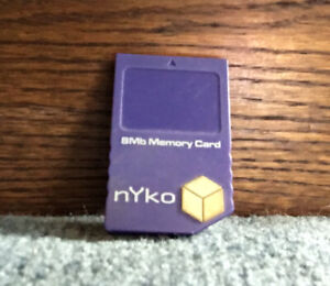 Nintendo GameCube Memory Card 8MB From Nyko Indigo Purple
