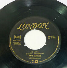 "FATS DOMINO ""When My Dreamboat Comes Home"" german 1956 LONDON 45 Rock 'n' Roll"