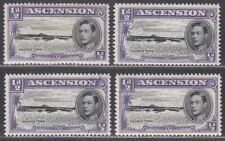 Ascension 1944 KGVI Georgetown ½d Perf 13 Small Variety Selection Mint