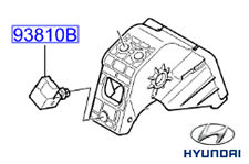 Genuine Hyundai i10 Brake Stop Lamp Switch - 938102E000