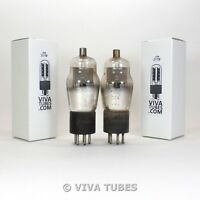NOS Date Matched Pair RCA Cunningham Radiotron Type 24A ENGRAVED Vacuum Tubes