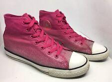 WOMENS RARE CONVERSE ALL STAR Pink Glitter White Hi Top Size 4.5 Eu 37.5