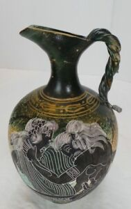 NEOCLASSICAL BRASS PITCHER JUG W/ ORNATE CARVINGS