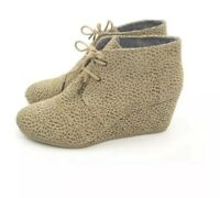 TOMS Desert Cheetah Booties Suede Ankle Boots Size 6