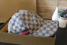 Men's New Original Gucci Hat  Gucci Canvas Baseball Cap Gray Adjustable Size M