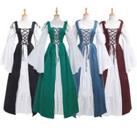 Women Vintage Renaissance Dress Cosplay Costume Princess Gothic Dresses S-5XL