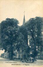 Carte MONTREUIL Eure et Loir L'église Groupe d'enfants