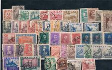 España. Estado Español. 46 sellos diferentes destaca 10 ptas Junta Defensa y Cid