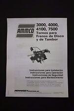 Ammco 3000, 4000, 4100 & 7700 Tornos para frenos de disco y de Tambor operacion