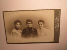 3 junge Frauen - Portrait / CDV Ernst Wilke Goslar